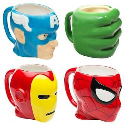 Marvel Avengers Ceramic 3D Mug OFFICIAL Spiderman Hulk Iron Man Captain America