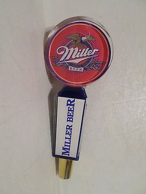 "Rare Version Miller 4 Sided 7.5"" Draft Beer Keg Tap Handle Marker Shift Knob"