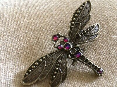 STEAMPUNK LARGE DRAGONFLY (volcanic)BROOCH