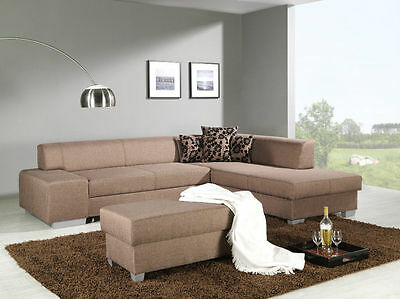 Sofagarnitur 3 1 1 sitzer bettfunktion bettkasten for Ecksofa 70er