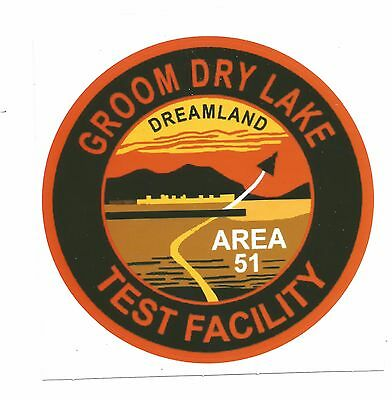 """Authentic 4"""" Groom Lake Area 51 Sticker Decal"""