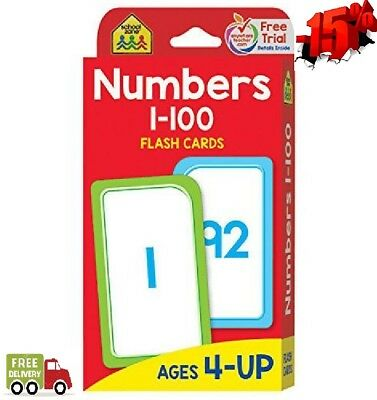 Flash Cards - Numbers 1 - 100 School Zone for Effective Studying of All Children