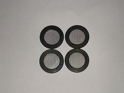 "4 x 3/4"" BSP MESH GAUZE FILTER SEALS / WASHERS TAP SHOWER VALVE HOSE CONNECTIONS"