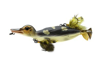 Savage Gear D-150-WD 3D Topwater Duck Pike Musky Lure Wood Duckling, 6""