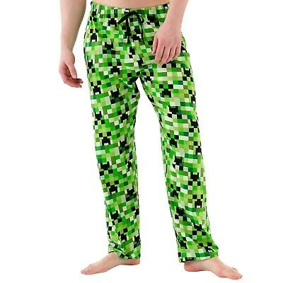 Mens Minecraft Lounge Pants | Mens Minecraft Creeper Pyjama Bottoms