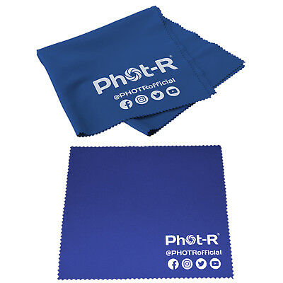 PhotR Microfibre Chamois Optical Camera Lens Cleaning Cloth Glasses Phone Tablet