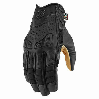 Icon Racing One Thousand Axys Mens Leather Street Sport Bike Motorcycle Gloves