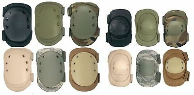 Black Olive Desert Tan ACU Camo Coyote Tactical Military Airsoft Knee Elbow Pads