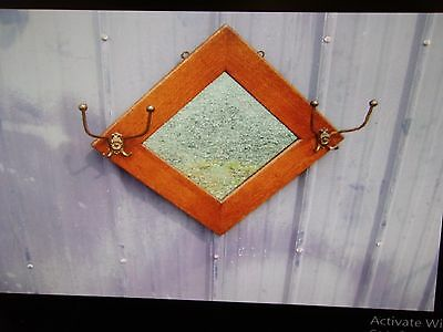 antique oak hall mirror-hall seat-selling out make offer