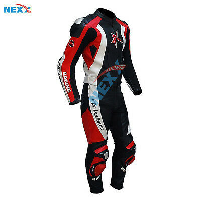 GENUINE Motorbike Leather Suit Motorcycle Leather Suit Racing suit Riding Suit