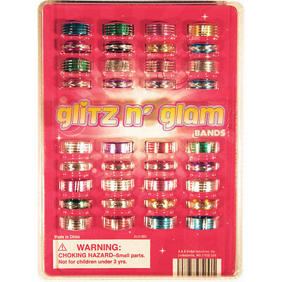 """1000 1"""" TOY FILLED VENDING CAPSULES Glitz and Glam Rings. FREE SHIPPING"""