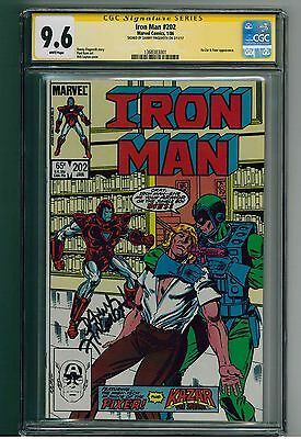 Iron Man #202 - CGC 9.6 SS - signed by Danny Fingeroth (writer)