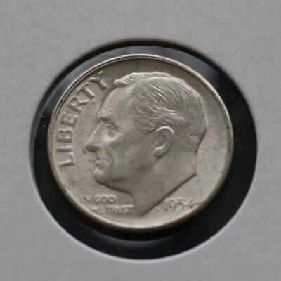 1954 S Bu Roosevelt Dime  *very Nice Choice Coin*  *free Shipping*