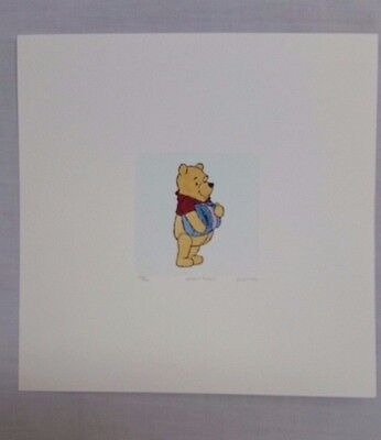 Winnie the Pooh Etching 2004 Signed Numbered w Cert of Authenticity REDUCED