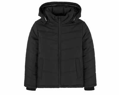 Sale Boys Hugo Boss J26324 09B Puffer Jacket Hooded Black 4-16 Years