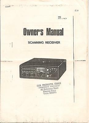 VHF Scanning + FM Broadcasting  receiver Owners manual 10 pgs incl. circ. diagra