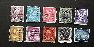 USA Stamps x 10 used