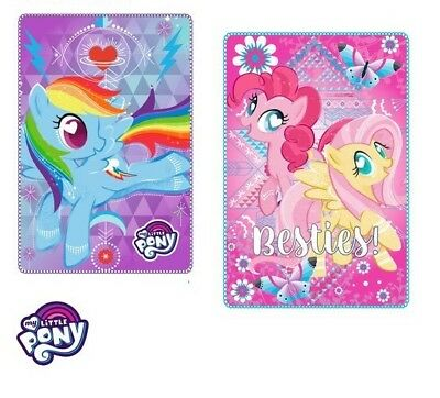 My Little Pony  Fleece Blanket Girls Kids Brand New Official 100cm x 150cm