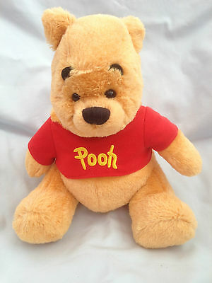 "Disney Winnie The Pooh - 8"" Plush Super Soft Toy - Atlas Editions - Very Good"