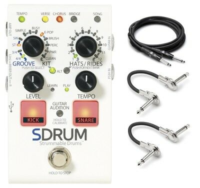 New Digitech SDrum Strummable Drums Pedal! w/ Power and Hosa Cables!