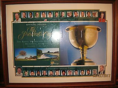 1998 The Presidents Cup 29 Autographs Official Framed Poster Rare!!!!!!!!