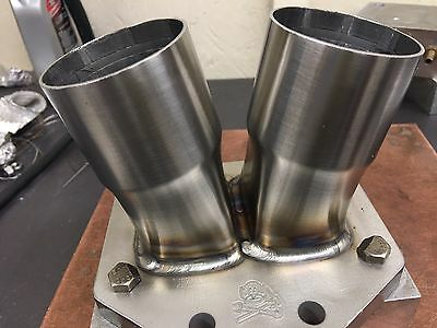 """Borg Warner T6 Turbo Flange  And Collector Stainless Steel W/support Tab 2.5"""""""