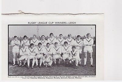 Team Pic from 1971-72 FOOTBALL Annual - LEIGH + ST HELENS - Rugby League
