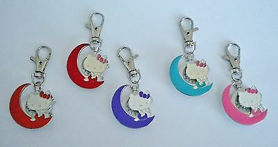 Ladies/girl's/nurses Hello Kitty Cat Keyring/keychain Pendant Pocket Fob Watch