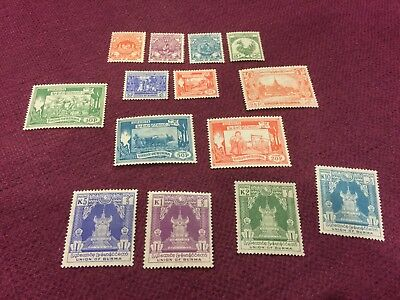 Burma 1954 Definitive MH/MLH Complete Set