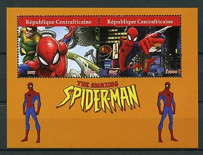 Central African Rep 2017 CTO Amazing Spiderman 2v M/S Marvel Superheroes Stamps