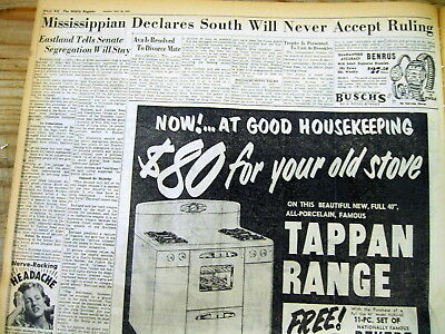 8 1954 Alabama newspapers SOUTH REACTS to US SUPREME COURT RULING on SEGREGATION