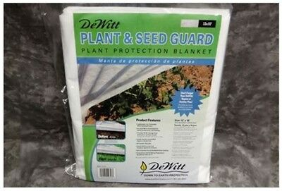 DeWitt PG12 15 Pack Plant Seed Guard .5 oz 12x10 Frost Cloth Freeze Protection