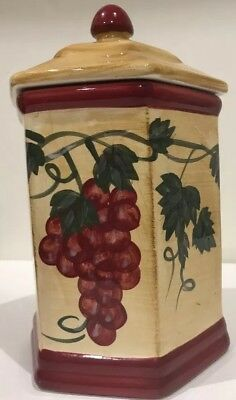 Nonni's Biscotti Collectible Cookie Jar Ceramic Hand-Painted  Hexagon Shaped