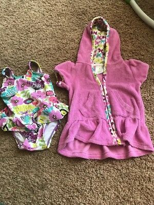 Vera Bradley Baby Cover-Up And Bathing Suit 3-6 Months