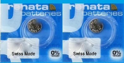 Renata Watch Battery #301 1.55V Silver Oxide SR43SW Swiss Made - 2pc Pack -