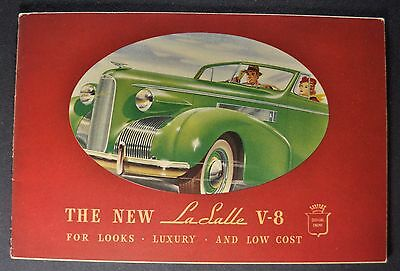 1939 LaSalle Catalog Sales Brochure Excellent Original 39