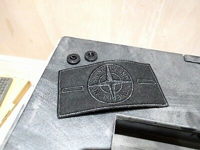 RARE Black Ghost Stone Island Badge for Jackets, Coats and Jeans