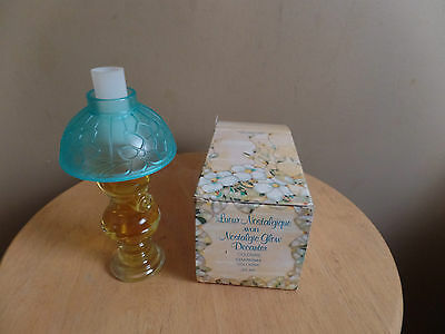 Vintage Avon NOSTALGIC Glow CHARISMA Cologne in Lamp Decanter & BOX-1970's-New