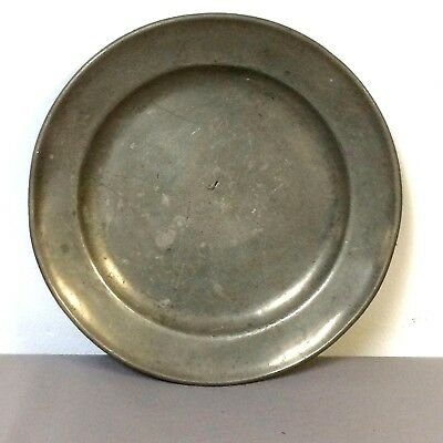 "19th Century European or Earlier 8.75"" Pewter Plate"