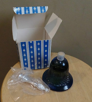 """Vintage Avon """"HOSPITALITY BELL"""" Decanter with MOONWIND Cologne~Original BOX~Full"""