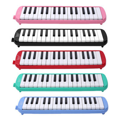 5Colors 32 Key Piano Style Melodica Instrument Blow Hose Keyboard Storage Bag
