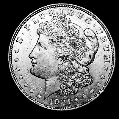 1921 D ~**ABOUT UNCIRCULATED AU**~ Silver Morgan Dollar Rare US Old Coin! #805