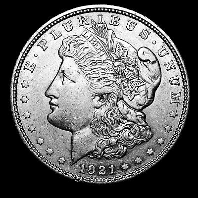 1921 D ~**ABOUT UNCIRCULATED AU**~ Silver Morgan Dollar Rare US Old Coin! #811