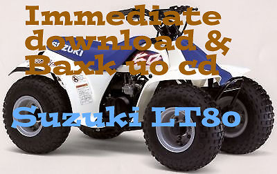 SUZUKI LT80 Quad Bike Workshop Repair Service  Manual LT 80 (1988-2006)