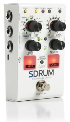 DigiTech SDRUM Strummable Drums Guitar Bass Effects Pedal Drum Machine Stompbox