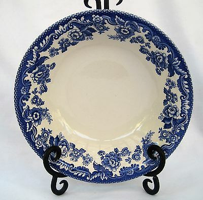 Lot of 4  SPODE Coupe Cereal/Soup  Delamere Blue ~~ S3734-A7 ~~ EXC