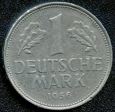 Germany 1956 'F' 1 Mark Coin