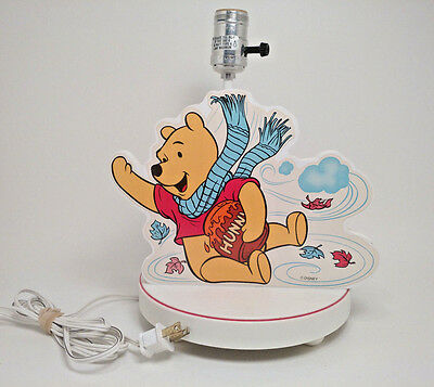 """Winnie The Pooh Lamp & Attached Night Light Approx. 11"""" x 9"""" Disney Decor Works"""