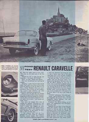 1959 Renault Caravelle  ~  Nice Original 5-Page Road Test / Article /  Print Ad