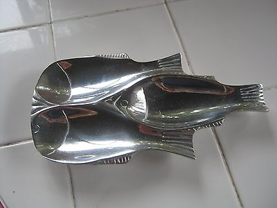 Pewter Fish Shaped Spoon Rest